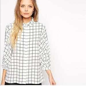 ASOS Gridline Button Up Top Size 6